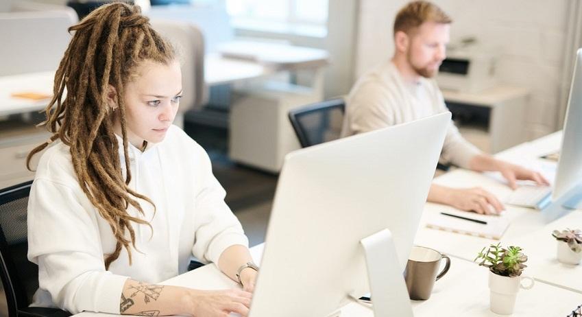 Femme, fonctionnement, bureau
