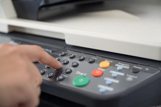 Closup of an MFP Printer