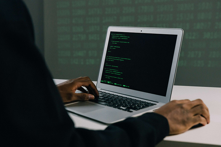 A hacker trying to compose HTML codes